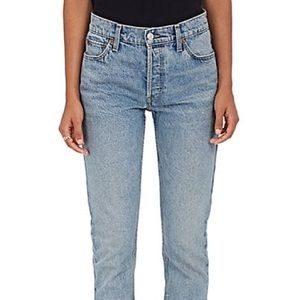 Re/Done Cindy Crawford Straight Leg High Rise Jean